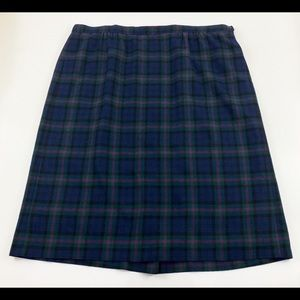 Vtg Pendleton plaid wool skirt 22W 2X 3X